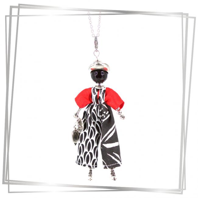 Pendentif poupée jenna| Murmures d'une charmeuse|Argent 925 | breloque |charm|sautoir poupée|collier poupée |lithothérapie |pièce unique |bijoux fantaisie| collier personnalisé |bijoux personnalisé |collier fantaisie |bijou personnalisé|bijoux fantaisie de qualité|pendentif personnalisé bijoux fantaisie femme |créateur |bijoux personnalisé femme