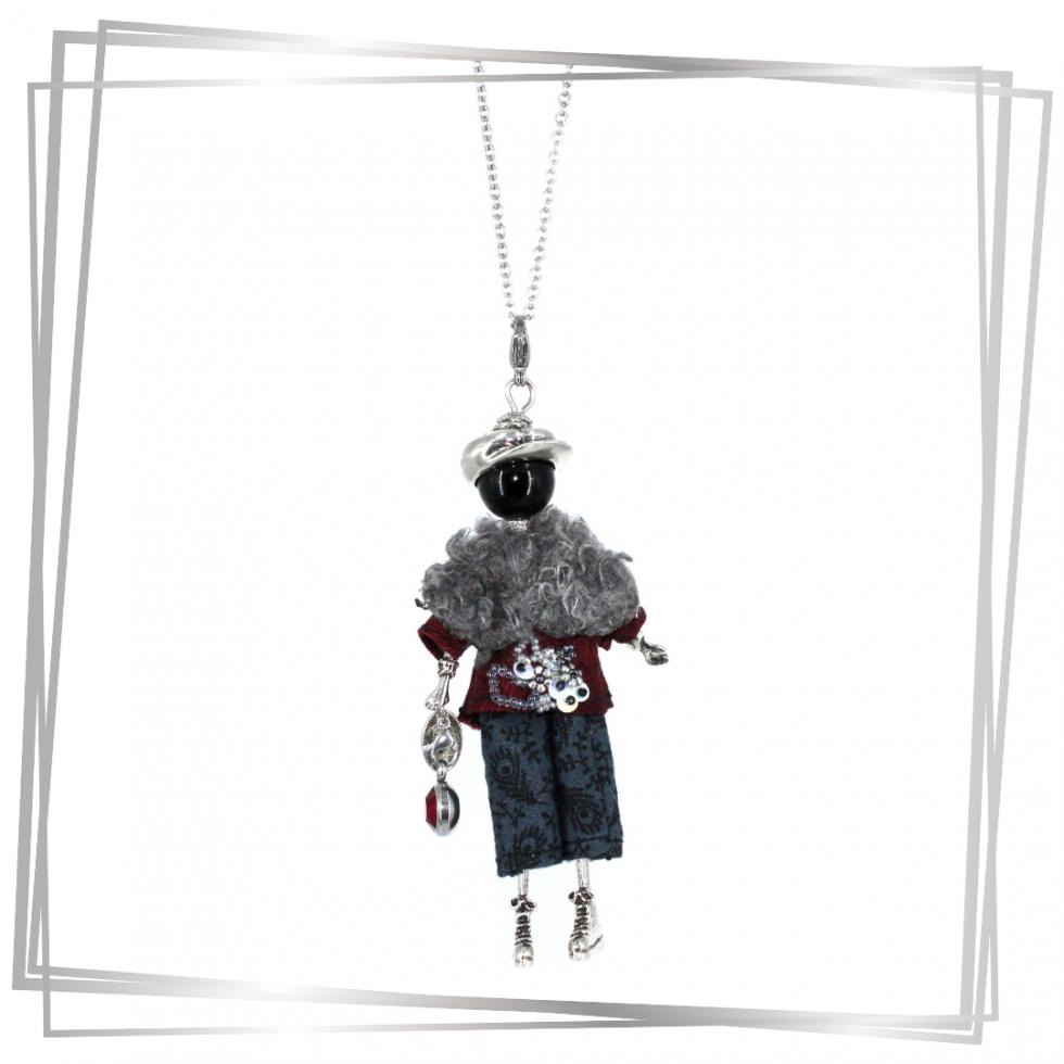 Pendentif poupée Selma |Murmures d'une charmeuse|sautoir poupée|collier poupée |lithothérapie |pièce unique |bijoux fantaisie| collier personnalisé |bijoux personnalisé |collier fantaisie |bijou personnalisé|bijoux fantaisie de qualité|pendentif personnalisé bijoux fantaisie femme |créateur |bijoux personnalisé femme |argent 925 |lithotérapie |pierre gemme
