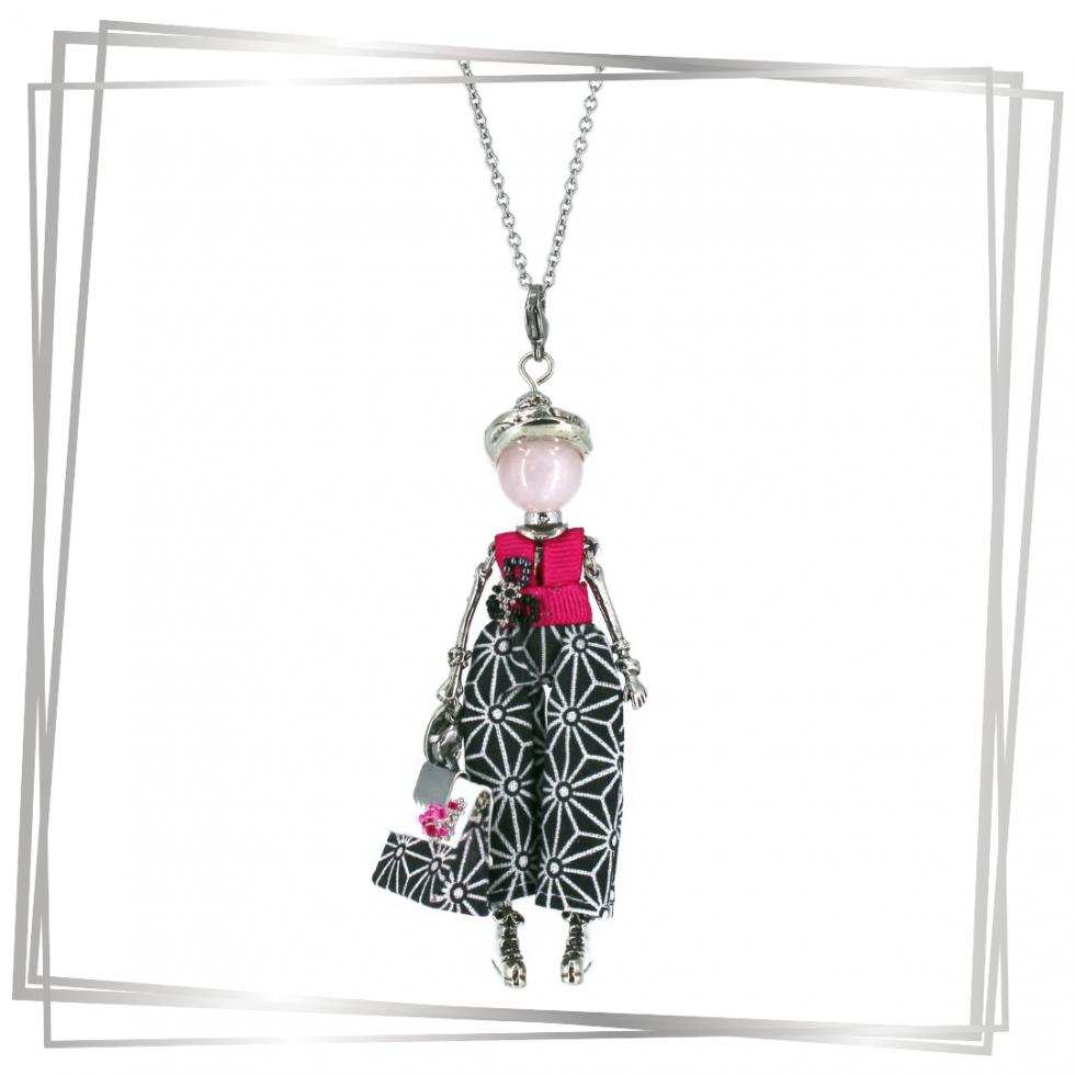 Collier poupée Aglaé quartz rose |Murmures d'une charmeuse|sautoir poupée|collier poupée |lithothérapie |pièce unique |bijoux fantaisie| collier personnalisé |bijoux personnalisé |collier fantaisie |bijou personnalisé|bijoux fantaisie de qualité|pendentif personnalisé bijoux fantaisie femme |créateur |bijoux personnalisé femme |argent 925 |lithotérapie |pierre gemme