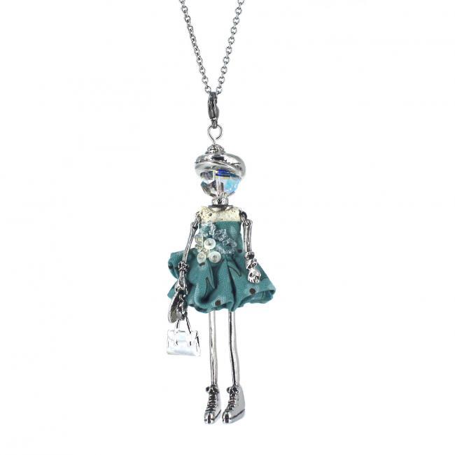 Pendentif poupée Elenna |Murmures d'une charmeuse |sautoir poupée