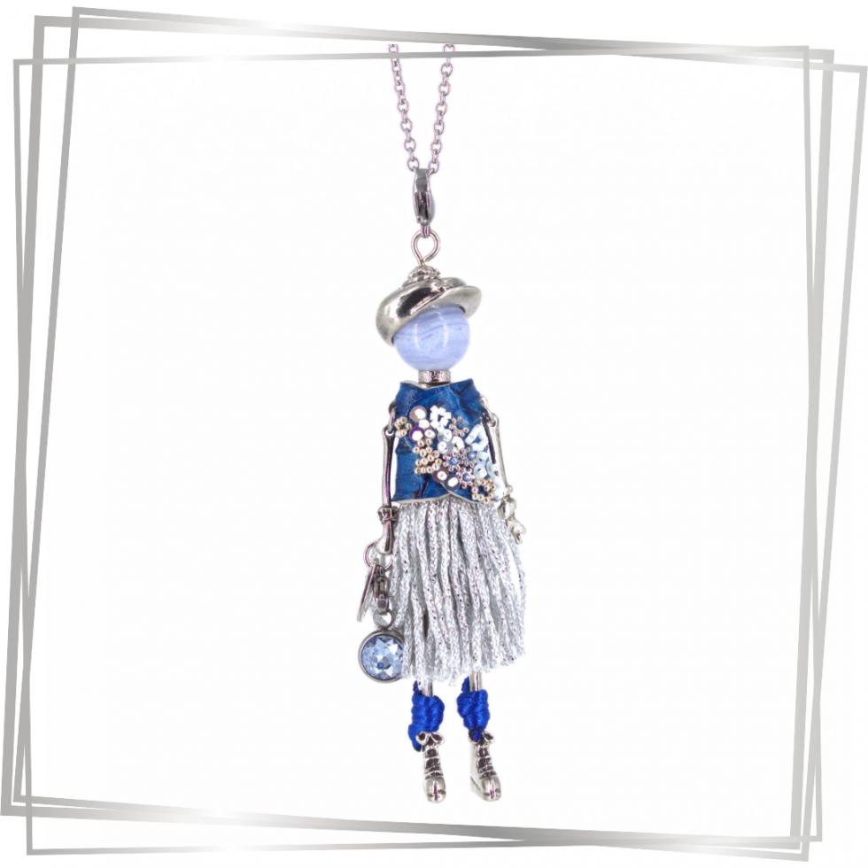 Pendentif poupée Lou|Murmures d'une charmeuse|Argent 925 | breloque |charm|sautoir poupée|collier poupée |lithothérapie |pièce unique |bijoux fantaisie| collier personnalisé |bijoux personnalisé |collier fantaisie |bijou personnalisé|bijoux fantaisie de qualité|pendentif personnalisé bijoux fantaisie femme |créateur |bijoux personnalisé femme