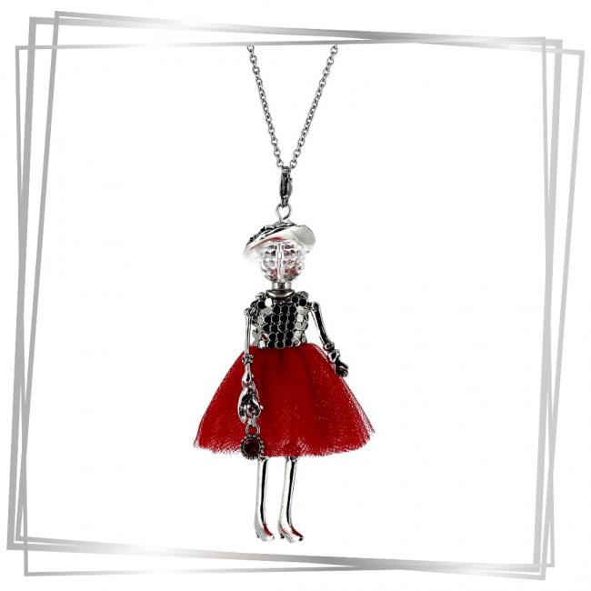 Pendentif poupée capucine