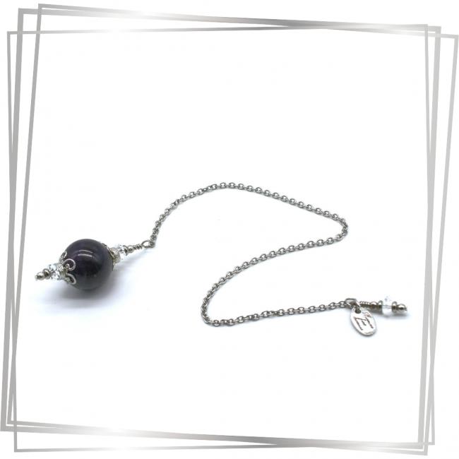 Pendule Celeste |Murmures d'une charmeuse | radiesthésie pendule |pierres fines| |lithothérapie |pièce unique | talisman | |créateur |argent 925 |lithotérapie |pierre gemme | pendule divinatoire |pendule paris