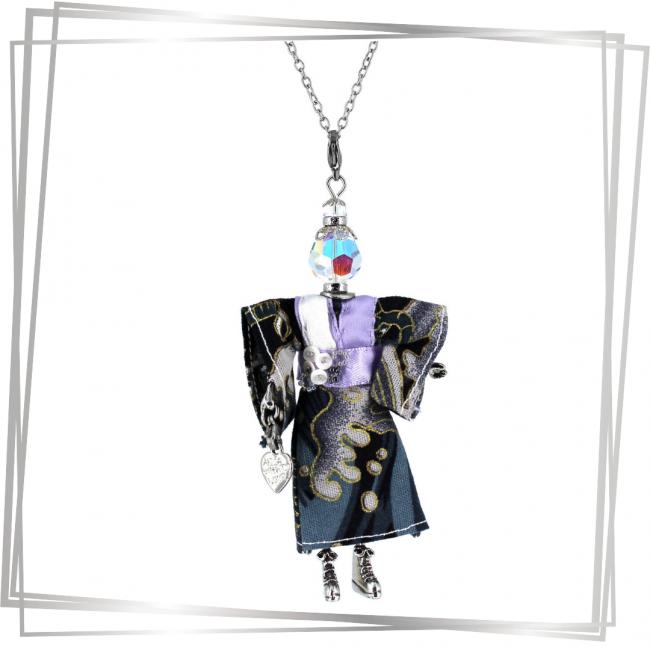 Pendentif poupée Mitsuko   bijou tendance  Murmures d'une charmeuse  japon  kimono   pierres fines   sautoir poupée collier poupée   lithothérapie  pièce unique  déesse   talisman  bijoux fantaisie  collier personnalisé  bijoux personnalisé  collier fantaisie  bijou personnalisé bijoux fantaisie de qualité pendentif personnalisé bijoux fantaisie femme  créateur  bijoux personnalisé femme  argent 925  lithotérapie  pierre gemme  