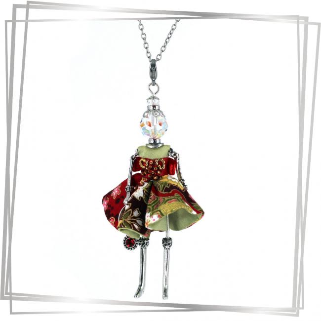 Pendentif poupée Yuna | bijou tendance |Murmures d'une charmeuse |japon |kimono | pierres fines | sautoir poupée|collier poupée | lithothérapie |pièce unique |déesse | talisman |bijoux fantaisie| collier personnalisé |bijoux personnalisé |collier fantaisie |bijou personnalisé|bijoux fantaisie de qualité|pendentif personnalisé bijoux fantaisie femme |créateur |bijoux personnalisé femme |argent 925 |lithotérapie |pierre gemme |