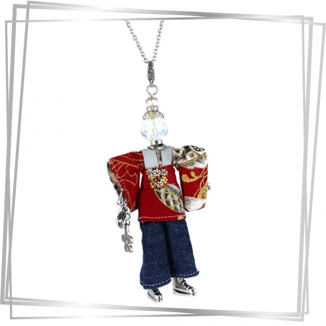 Pendentif poupée Yoko | bijou tendance |Murmures d'une charmeuse |japon |kimono | pierres fines | sautoir poupée|collier poupée | lithothérapie |pièce unique |déesse | talisman |bijoux fantaisie| collier personnalisé |bijoux personnalisé |collier fantaisie |bijou personnalisé|bijoux fantaisie de qualité|pendentif personnalisé bijoux fantaisie femme |créateur |bijoux personnalisé femme |argent 925 |lithotérapie |pierre gemme |