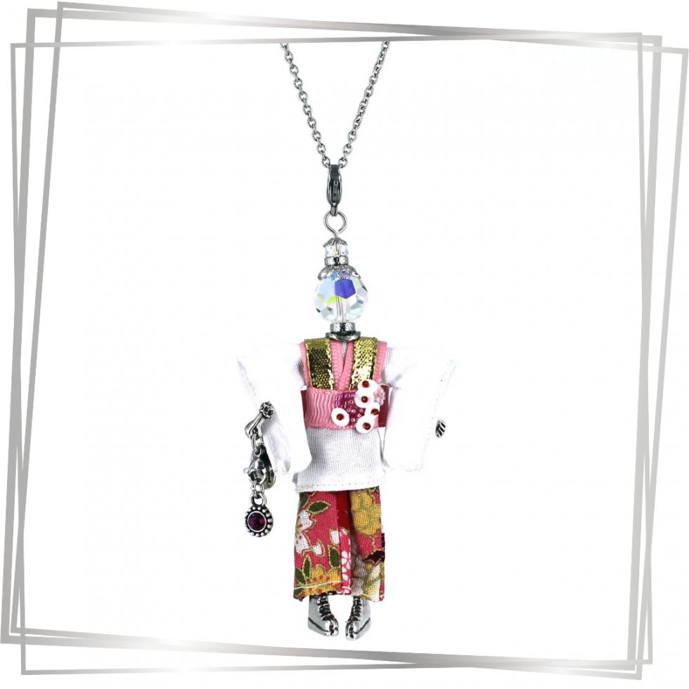Pendentif poupée Kana | bijou tendance |Murmures d'une charmeuse |japon |kimono | pierres fines | sautoir poupée|collier poupée | lithothérapie |pièce unique |déesse | talisman |bijoux fantaisie| collier personnalisé |bijoux personnalisé |collier fantaisie |bijou personnalisé|bijoux fantaisie de qualité|pendentif personnalisé bijoux fantaisie femme |créateur |bijoux personnalisé femme |argent 925 |lithotérapie |pierre gemme |