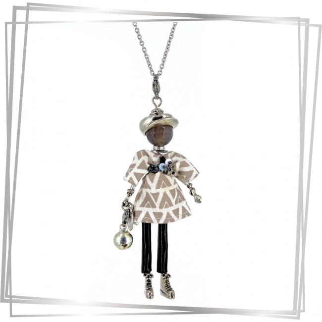 Pendentif poupée Léa | bijou tendance |Murmures d'une charmeuse | pierres fines | sautoir poupée| bijou de grossesse | bola de grossesse |collier poupée | lithothérapie |pièce unique |déesse | talisman |bijoux fantaisie| collier personnalisé |bijoux personnalisé |collier fantaisie |bijou personnalisé|bijoux fantaisie de qualité|pendentif personnalisé bijoux fantaisie femme |créateur |bijoux personnalisé femme |argent 925 |lithotérapie |pierre gemme |