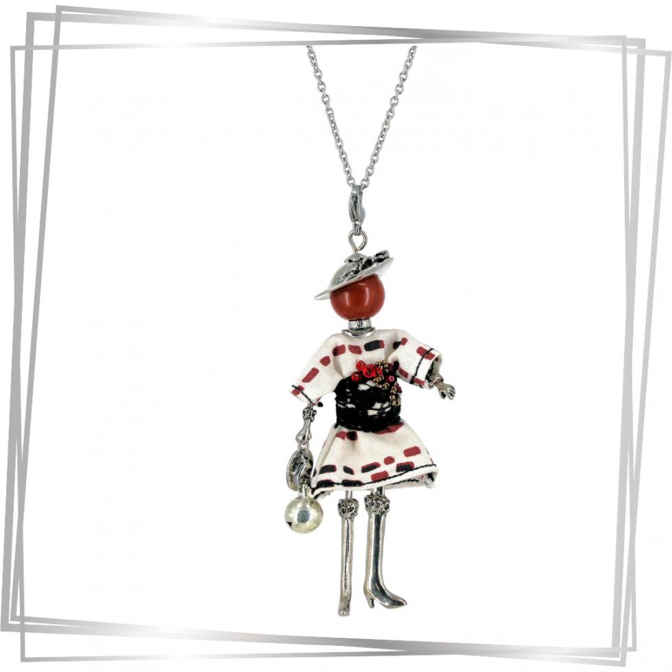 Pendentif poupée Alba | bijou tendance |Murmures d'une charmeuse | pierres fines | sautoir poupée| bijou de grossesse | bola de grossesse |collier poupée | lithothérapie |pièce unique |déesse | talisman |bijoux fantaisie| collier personnalisé |bijoux personnalisé |collier fantaisie |bijou personnalisé|bijoux fantaisie de qualité|pendentif personnalisé bijoux fantaisie femme |créateur |bijoux personnalisé femme |argent 925 |lithotérapie |pierre gemme |