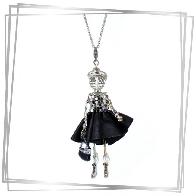 Sautoir poupée look Rock N' Roll Lucia|Murmures d'une charmeuse | pierres fines | sautoir poupée|collier poupée | lithothérapie |pièce unique |déesse | talisman |bijoux fantaisie| collier personnalisé |bijoux personnalisé |collier fantaisie |bijou personnalisé|bijoux fantaisie de qualité|pendentif personnalisé bijoux fantaisie femme |créateur |bijoux personnalisé femme |argent 925 |lithotérapie |pierre gemme | cristal de roche