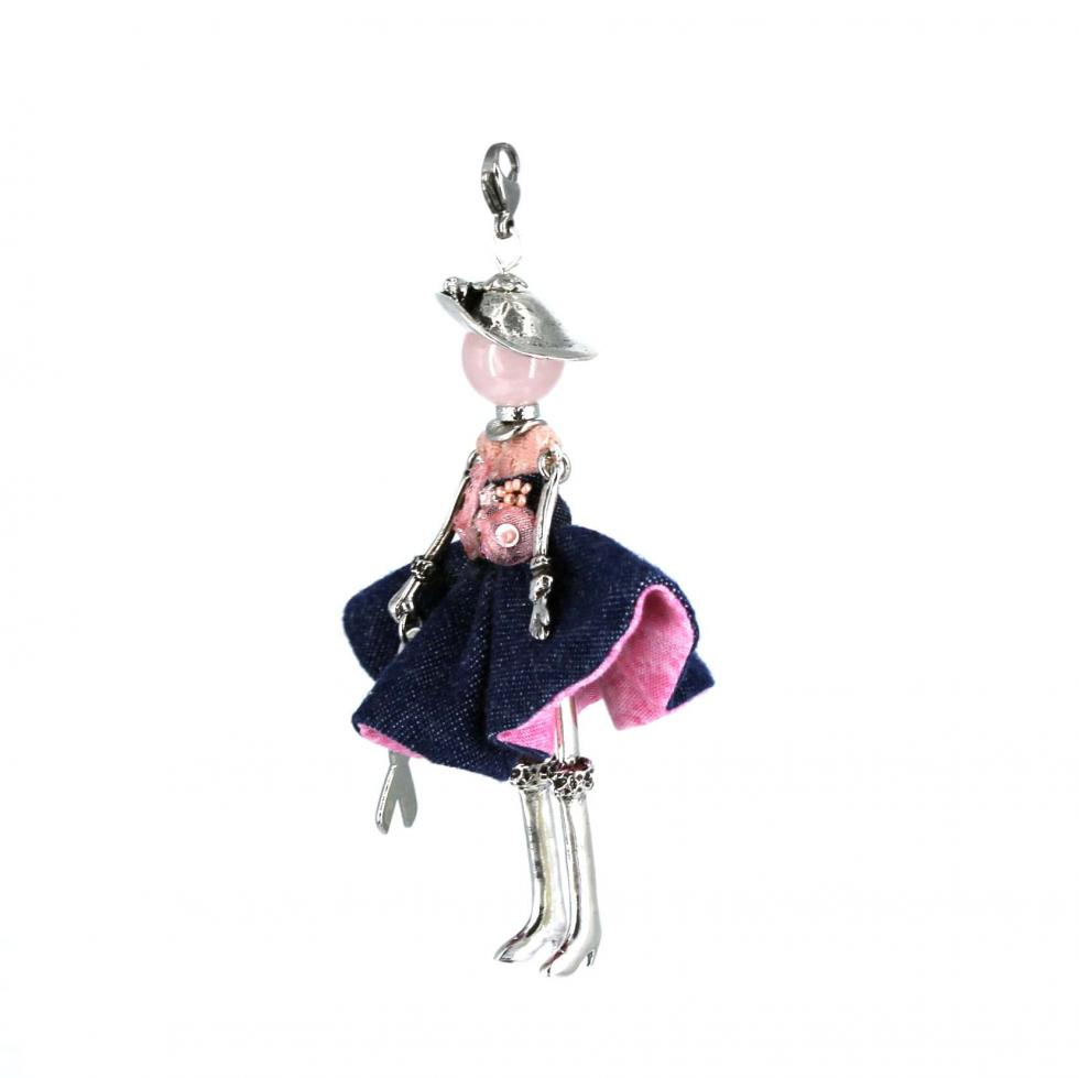 Collier original femme - Octobre rose  Murmures d'une charmeuse   bijoux fantaisie  collier personnalisé  sautoir poupée  collier poupée   lithothérapie  pièce unique   bijoux artisanaux   talisman  bijoux fantaisie   bijoux personnalisé  collier fantaisie  bijou personnalisé bijoux fantaisie de qualité  lithotérapie  pierre gemme   Quartz rose