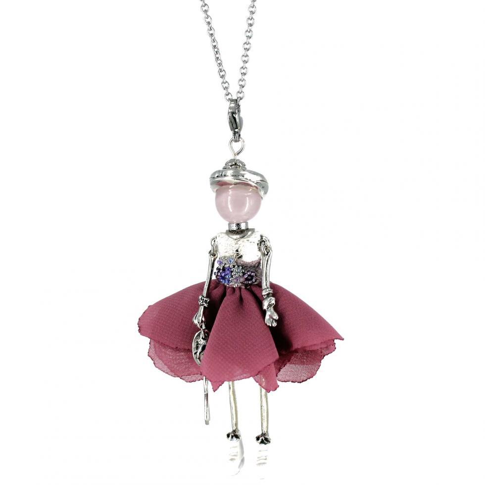 Pendentif pour femme | Octobre rose ||Murmures d'une charmeuse | bijoux fantaisie| collier personnalisé| sautoir poupée| collier poupée | lithothérapie |pièce unique | bijoux artisanaux | talisman |bijoux fantaisie| |bijoux personnalisé |collier fantaisie