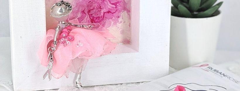 Tableau décoratif poupée-octobre rose